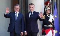 Moon Jae-in et Emmanuel Macron veulent renforcer les liens bilatéraux