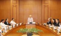 Nguyên Phu Trong à la réunion du comité de pilotage de la planification des cadres stratégiques