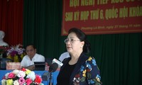 Nguyên Thi Kim Ngân rencontre l'électorat de la ville de Cân Tho
