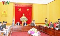 Nguyên Phu Trong à la réunion-bilan de la commission du Parti pour la police