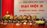 Session plénière du 10e Congrès national des étudiants vietnamiens
