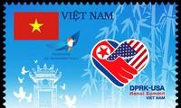 Un timbre en l'honneur du sommet USA-République populaire démocratique de Corée
