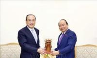 Nguyên Xuân Phuc reçoit le gouverneur du Yunnan