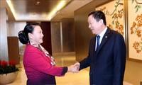 Nguyên Thi Kim Ngân rencontre le dirigeant de Suzhou