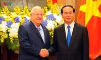 ベトナムを訪問したイスラエル大統領とチャン・ダイ・クアン国家主席