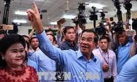カンボジア総選挙 与党が全議席獲得 最大野党解党の中