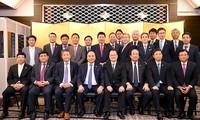 フック首相、日本のインフラ整備企業や金融業の代表と座談会