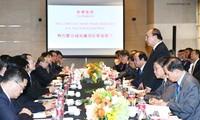フック首相、中国の企業経営者と会見