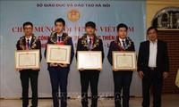 ハノイ市、国際天文学・天体物理学オリンピックの参加者を顕彰