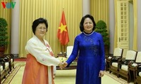 ティン国家副主席、朝鮮・ベトナム友好協会の代表団と会見