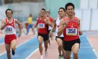 越南代表团在胡志明市国际田径公开赛上获得大胜