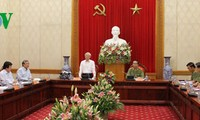 阮富仲与中央公安党委座谈