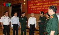 越共中央政治局检查团与中央军委常委会座谈