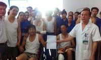 中国工人写信感谢越南医生