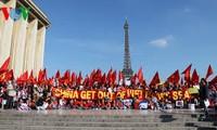 旅居世界各国越南人继续反对中国