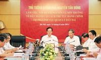 阮晋勇总理:要及早完善机制政策   有效实施《2013土地法》
