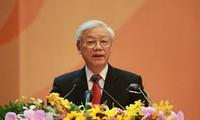 越共中央总书记阮富仲会见老挝人民革命党中央组织部高级代表团
