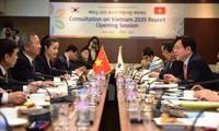 """越韩按照""""2035年越南报告资讯计划""""进行研究和交流"""
