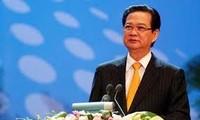 越南政府总理阮晋勇出席湄公河次区域五国经济论坛
