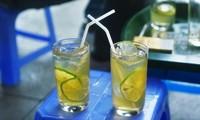 河内古街区大教堂一带的柠檬茶