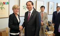 越南公安部长陈大光与澳大利亚执法机关领导人举行会谈