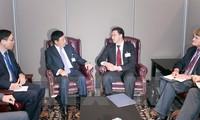 越南政府副总理兼外交部长范平明会见多国外长