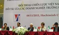 意大利总统马塔雷拉与越南政府副总理武文宁共同主持越意战略对话论坛
