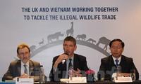 越南与英国加强打击野生动植物贩卖行为