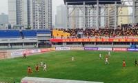 越中足球友谊赛在中国东兴举行