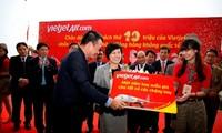 越捷航空公司免费发放10万张国际机票