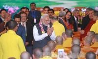 越南国会主席阮氏金银会见印度总理莫迪
