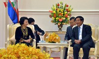 阮氏金银会见柬埔寨首相洪森