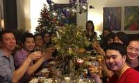 海外越侨欢度新年