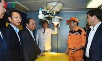 阮春福在岘港市视察越南第二区海上搜救配合中心