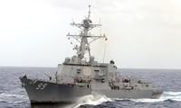 美国海军向伊朗船只发射警示弹