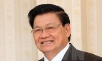 老挝总理通伦来越共同主持越老政府间合作委员会第39次会议