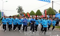 越南各地动员720万人参加2017年面向全民健康的奥林匹克长跑日活动