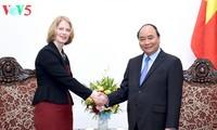 阮春福会见新西兰驻越大使马修斯和斯洛文尼亚驻越大使普瑞泽