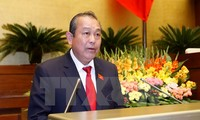 越南政府副总理张和平与同奈省主要领导人座谈