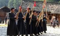 越南民族音乐生活中的竹制乐器展览和表演举行