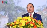 阮春福对老挝进行正式访问