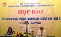 越南将举行多项活动纪念荣军烈士节70周年