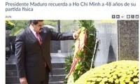 委内瑞拉总统马杜罗赞颂胡志明主席