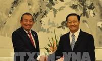 张和平会见广西壮族自治区党委书记彭清华
