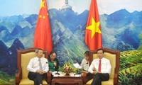 中国云南省文山州委代表团访问河江省