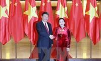越南国会主席阮氏金银会见中共中央总书记国家主席习近平