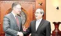 胡志明市领导人对越美多领域合作予以高度评价