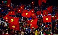 越南U23男子足球队庆功会在美庭国家体育场举行