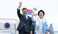 韩国总统访问越南