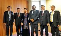 阮氏金银出席各国议会联盟第138届大会各项活动